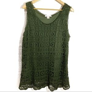Christoper and Banks olive green sleeveless tank